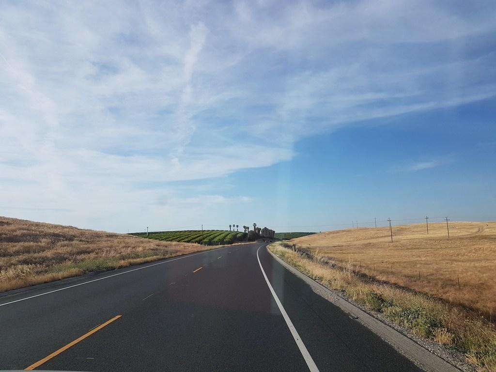Route entre LA et sequoia NP
