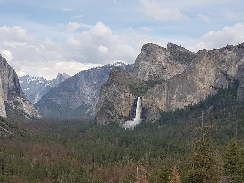Arrivée au Yosemite NP via Tunnel View