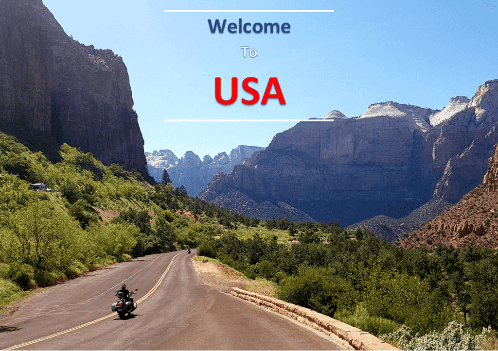 Zion National Park welcome to USA