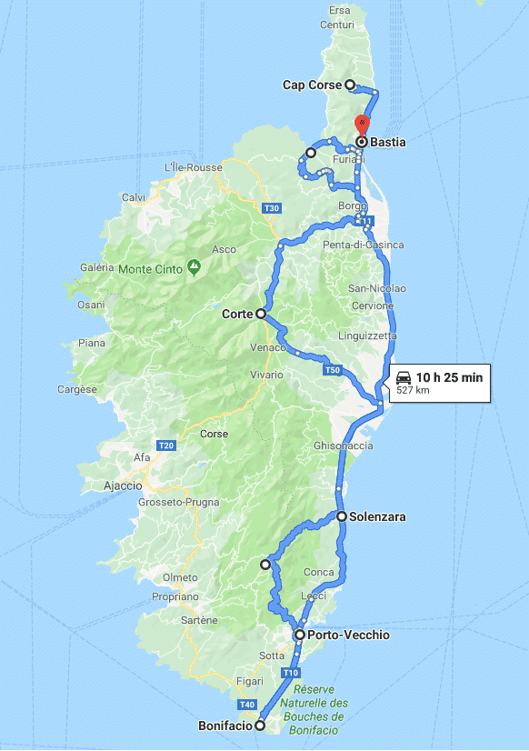 Corse - itinéraire road-trip