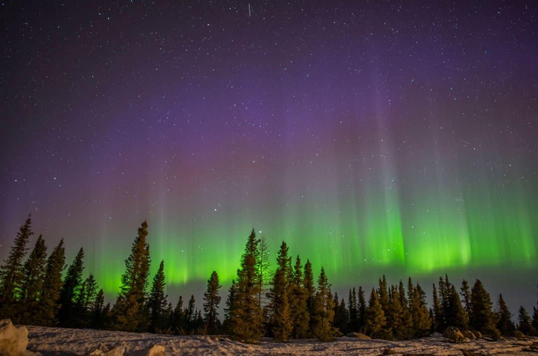 Canada en hiver - Aurores boréales